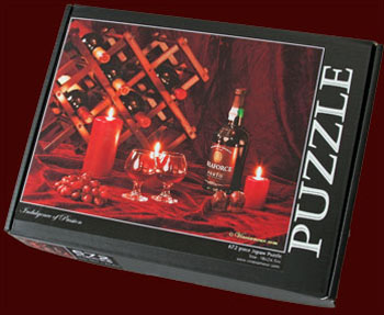 Indulgence of Passion Wine Art Puzzle